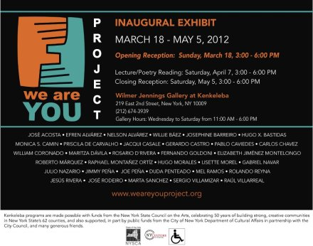 We Are You Project Inaugural Exhibit NYC Flyer